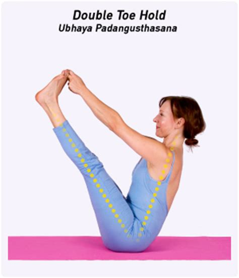 boat pose holding toes how to double toe hold pose in yoga