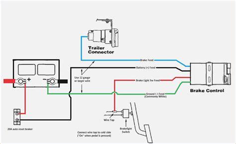 electric trailer brake wiring diagram wiring