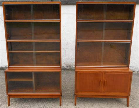 glass fronted bookshelves pair mahogany glass fronted bookcases by minty sold