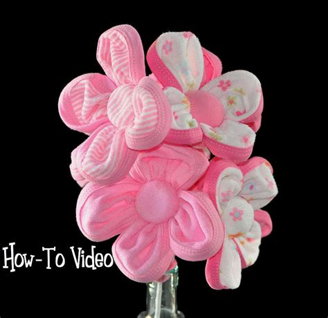 how to make a shower out of a bathtub baby washcloth flowers washagami bouquet or diaper cake
