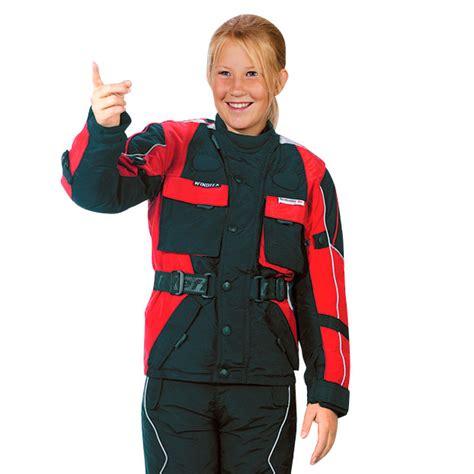 Kinder Motorradbekleidung by Kinder Motorradjacke Roleff Rot Schwarz Insportline