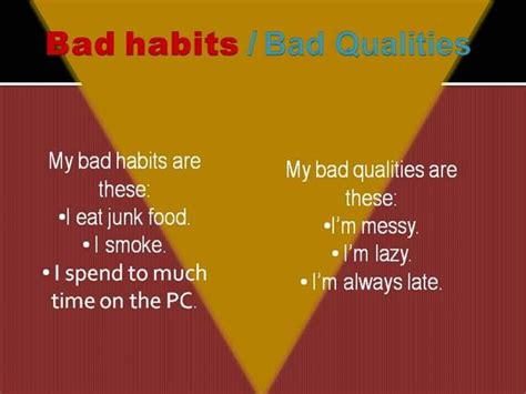 Habits Ppt Bad Habits Authorstream