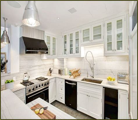 Kitchens With White Cabinets And Black Appliances Kitchen With White Cabinets And Black Appliances Home Design Ideas