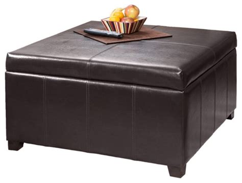 leather square storage ottoman brown leather square storage ottoman