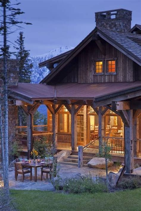 cabin porch log cabin porch cabins pinterest