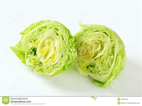 Hiltons Time Cut In Half by Iceberg Lettuce Stock Image Image Of Leaf Fresh