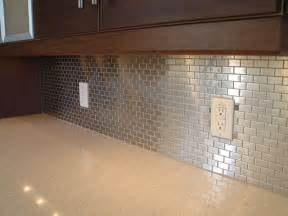 Stainless Steel Tiles For Kitchen Backsplash by Backsplash Mosaics Tie Stainless Finishes To Wood Tones In