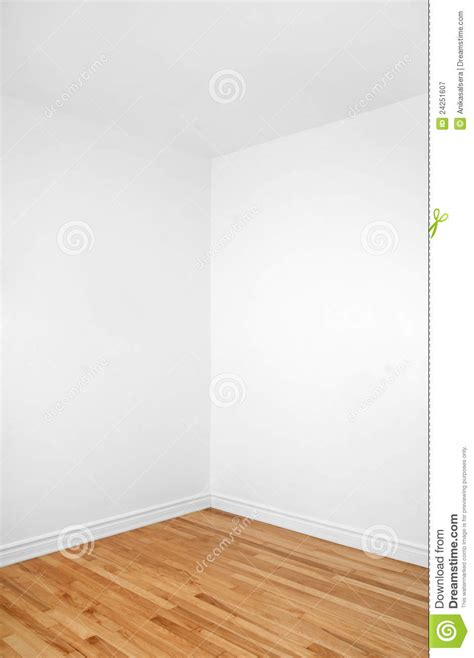 room corner empty corner of a room with wooden floor royalty free