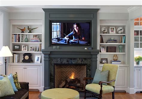 Tv Above Fireplace Mantel by Tv Above Fireplace Design Ideas