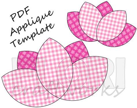 free applique templates for lotus flower pdf applique template pattern diy onesie