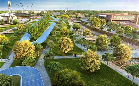 Landscape Design Cities Dubai Plans Pedestrian Friendly Green Space