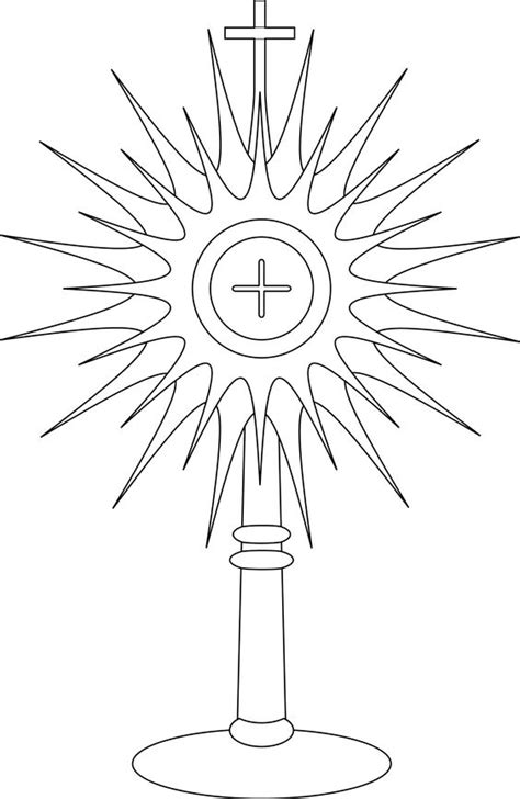 Pinterest The World S Catalog Of Ideas Monstrance Coloring Page