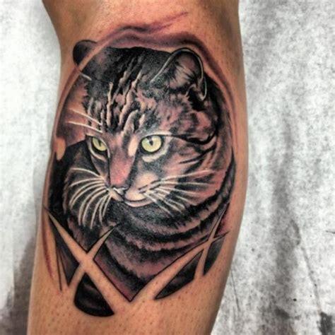 arm realistic cat tattoo by tantrix body art