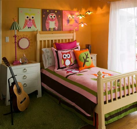 owl bedroom girl s mod owl themed bedroom modern bedroom other