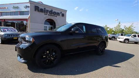 jeep durango blacked out 2013 dodge durango r t black stk dc686800 rairdon s dodge