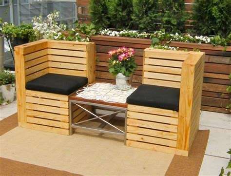 Wood Pallet Patio Furniture Pallet Garden Furniture Ideas
