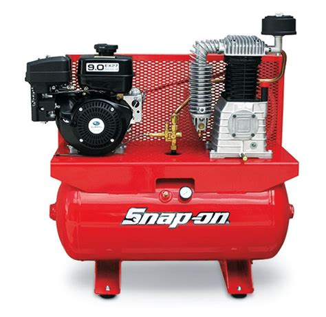 air compressor stationary horizontal gas engine 30 gallon 9 0 hp 175 max psi single phase