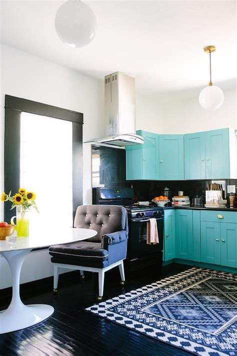 glossy black kitchen cabinets turquoise blue kitchen cabinets with glossy black floors