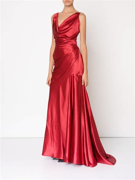 draped evening dress vivienne westwood red label draped evening dress in red lyst