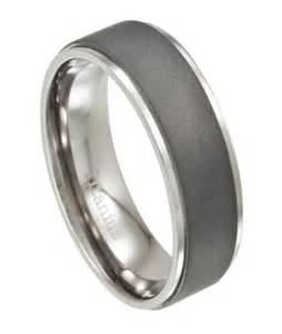 s wedding rings titanium s wedding ring with matte finish
