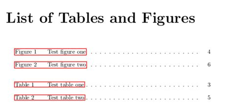 List Of Tables In Word by Floats Adding Word Table Before Each Entry In List Of