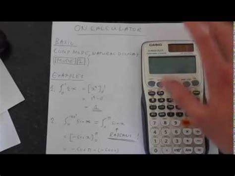 tutorial casio fx 991es casio fx 991es plus calculus integration and