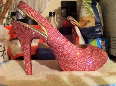 diy rhinestone shoes my diy swarovski rhinestone wedding shoes weddingbee