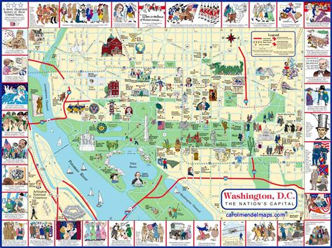 washington dc map of attractions washington d c map