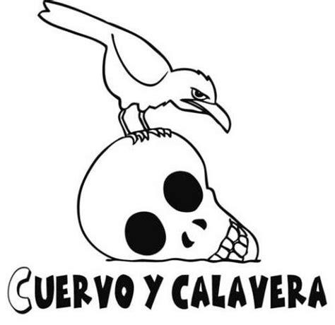 dibujos de calaveras para imprimir az dibujos para colorear imprimir imagen gratis de cuervo y calavera para colorear