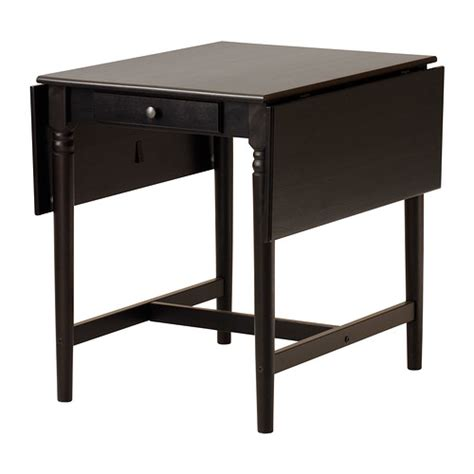 black drop leaf kitchen table ingatorp drop leaf table ikea