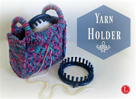 pattern for yarn holder loom knit yarn holder bag video loomahat com