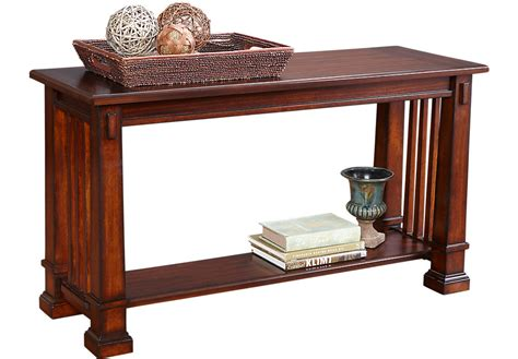 the sofa table clairfield tobacco sofa table sofa tables wood