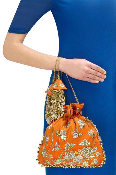 Tas Mote Handmade Orange Gold 526 best potli bags images on