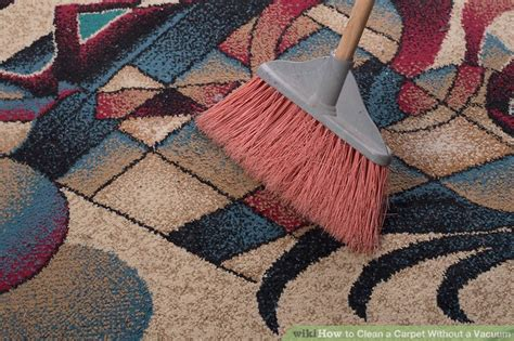 how to clean rugs without a shooer 3 ways to clean a carpet without a vacuum wikihow