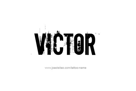 victor name tattoo designs