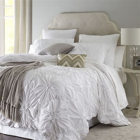 white and cream bedding savannah white duvet cover sham pier 1 imports