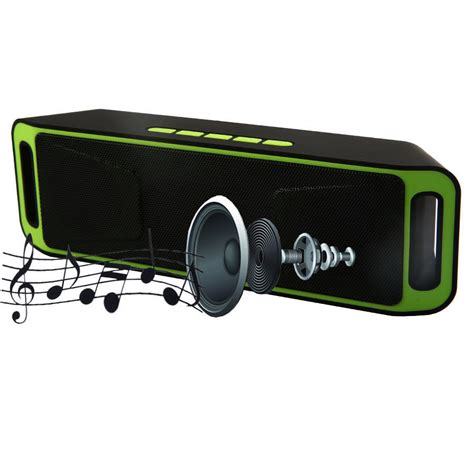 Bluetooth Speaker Mega Bass S206 mega bass mini in card bluetooth speaker with mp3 fm radio function green ebay