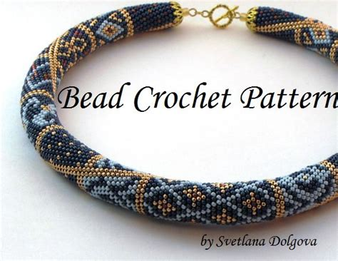 beaded crochet designs pattern for bead crochet necklace