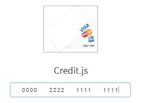 Credit Card Form Jquery Jquery Credit Card Plugins Jquery Script