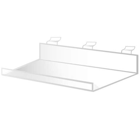 Lipped Shelf by 40cm Acrylic Lipped Shelf Slatwall Max Shelf Ltd