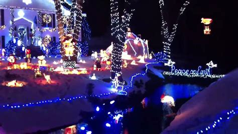 crazy christmas lights in saugus ma youtube