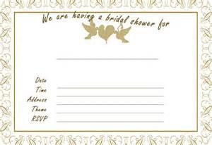 bridal shower invitations bridal shower invitations blank