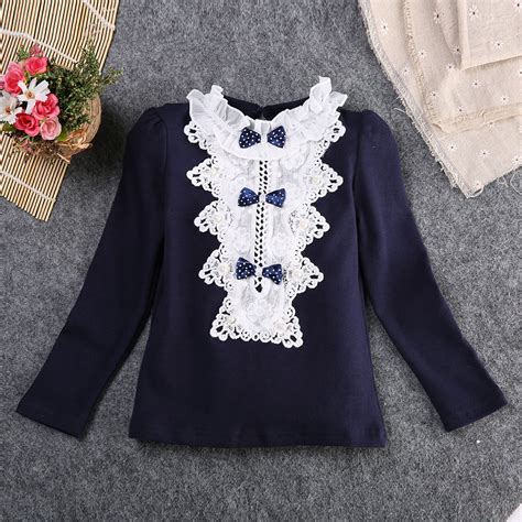 Gifts Princess Sleeve Blouse lovely autumn sleeve lace princess blouse for baby blouses children blouse