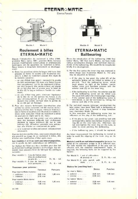 vintage eterna watches spare parts information eterna