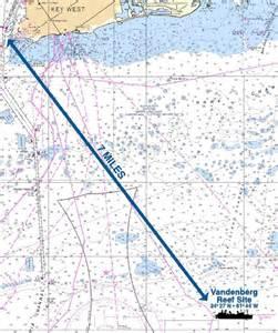 florida reefs and wrecks map florida diving snorkeling county florida