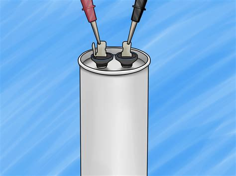 how to test a condenser capacitor how to check a start capacitor 5 easy steps wikihow