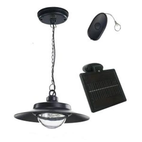hanging solar lights home depot nature power 4 light black indoor outdoor solar powered led hanging shed light with remote