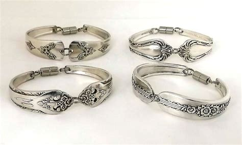 how to make flatware jewelry silver spoon bracelet vintage silverplate silverware