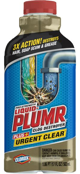 Liquid For Clogged Sink by Drain Cleaners For Kitchens Bathrooms Liquid Plumr