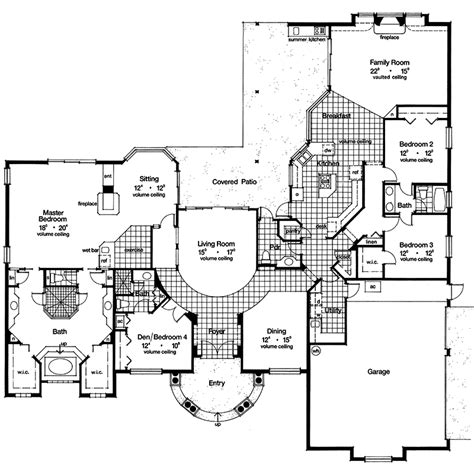 spanish hacienda floor plans style home plans courtyards spanish hacienda house plans